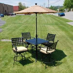 AZSB8019 Chateau 36 Square Bar Table Set 22 113 Patio, Lawn & Garden