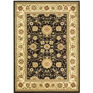 Rugs Lyndhurst Collection LNH212A 28 Black/Cr?me 23 x 8 Runner